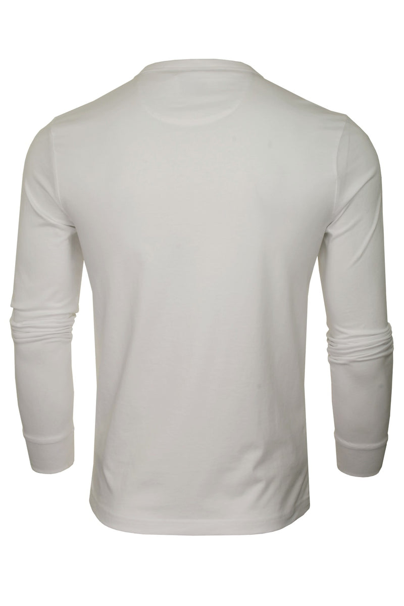 Farah Mens 'Worthington' Long Sleeved T-Shirt, 03, F4Ksb057, #colour_White