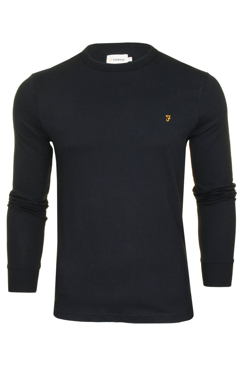 Farah Mens 'Worthington' Long Sleeved T-Shirt, 01, F4Ksb057, #colour_True Navy