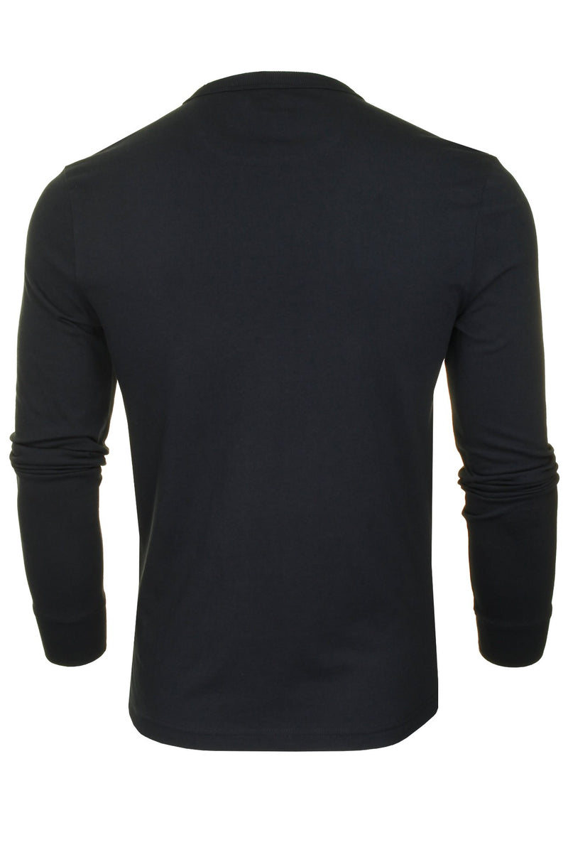 Farah Mens 'Worthington' Long Sleeved T-Shirt, 03, F4Ksb057, #colour_True Navy