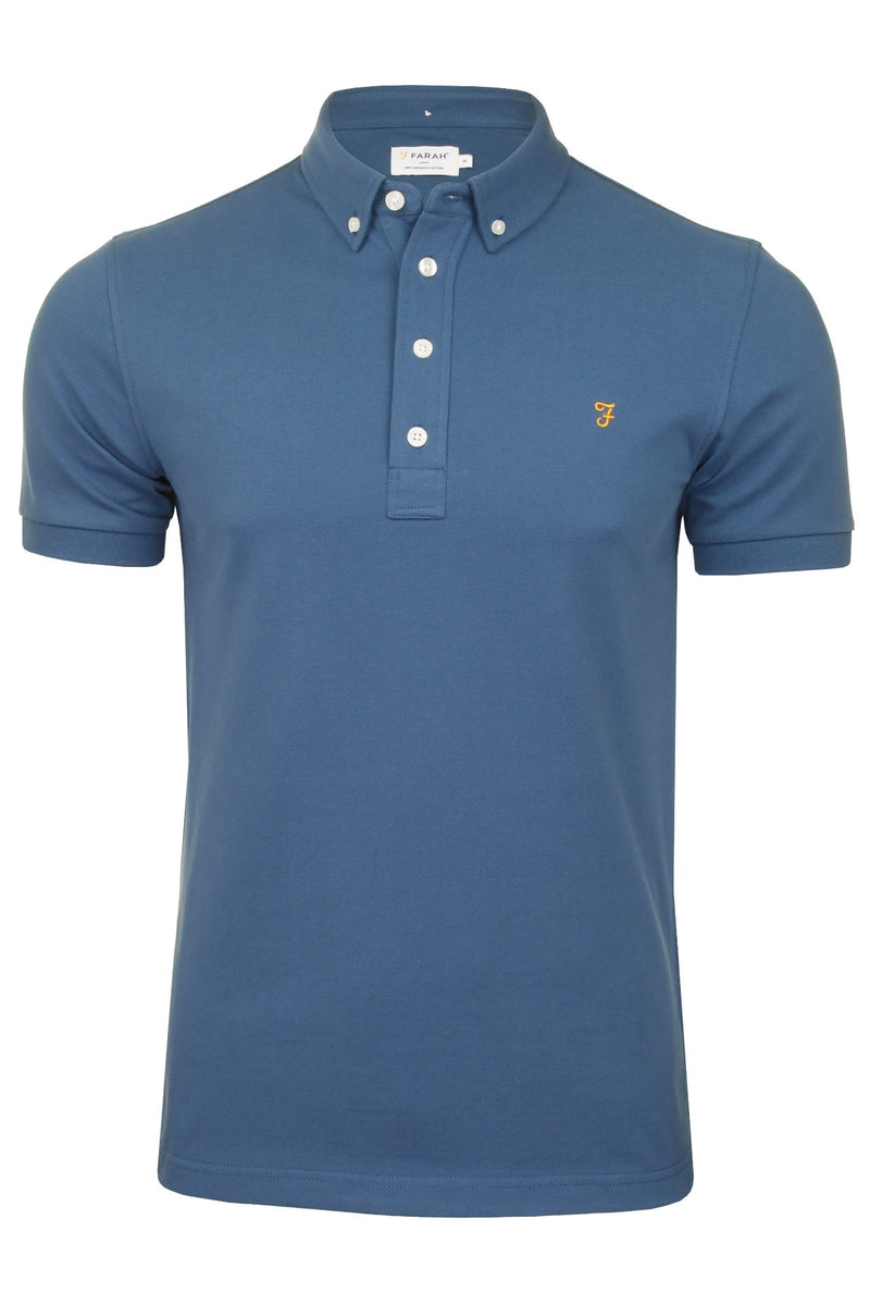 Farah Mens 'Ricky Polo' T-Shirt. Short Sleeved., 01, F4Ksb066, #colour_Cold Metal