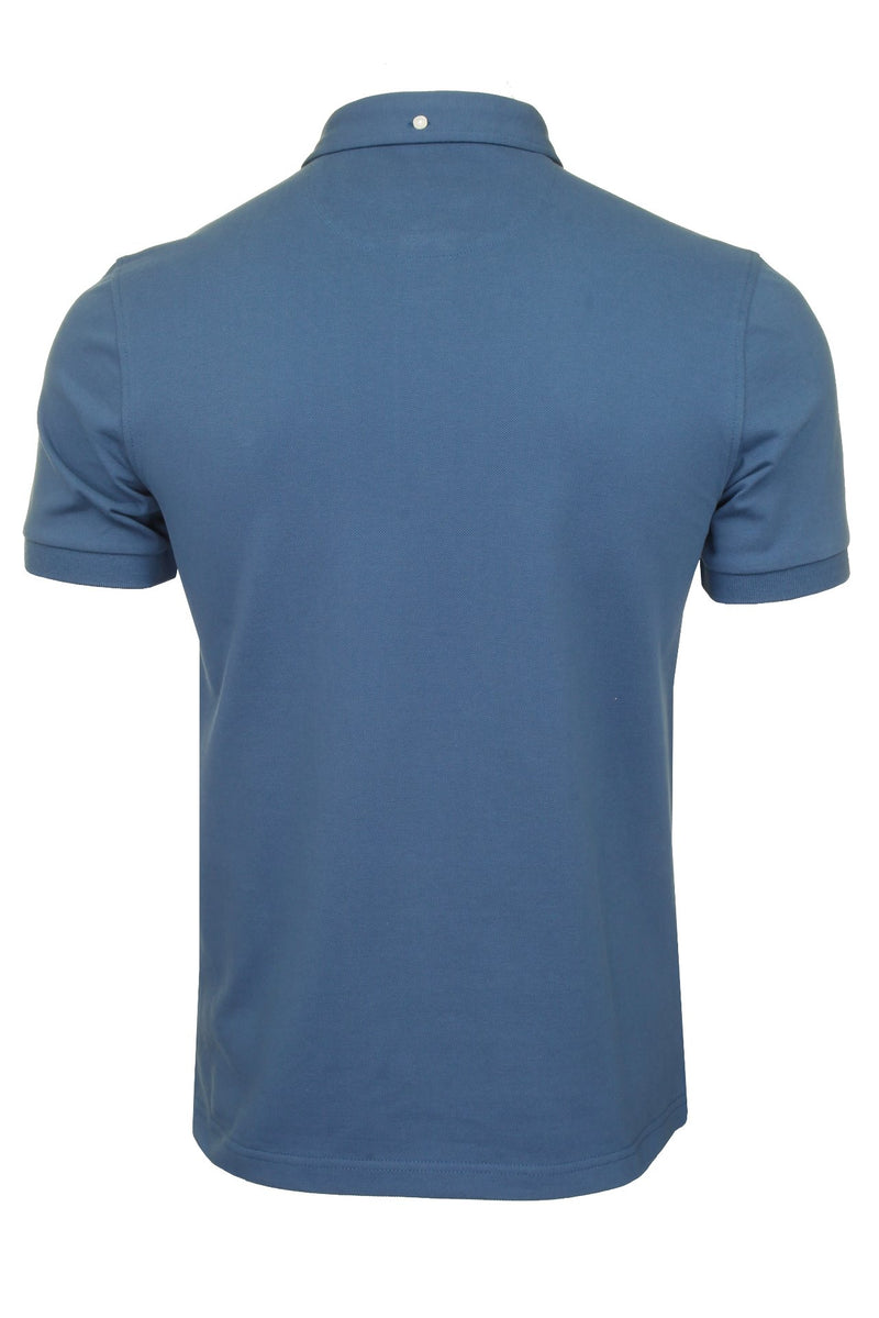 Farah Mens 'Ricky Polo' T-Shirt. Short Sleeved., 03, F4Ksb066, #colour_Cold Metal