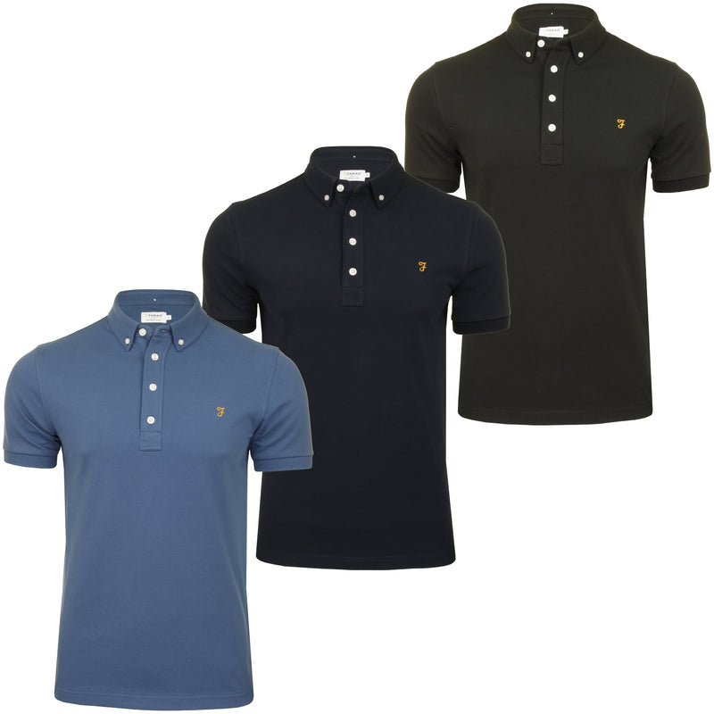 Farah Mens 'Ricky Polo' T-Shirt. Short Sleeved., 01, F4Ksb066