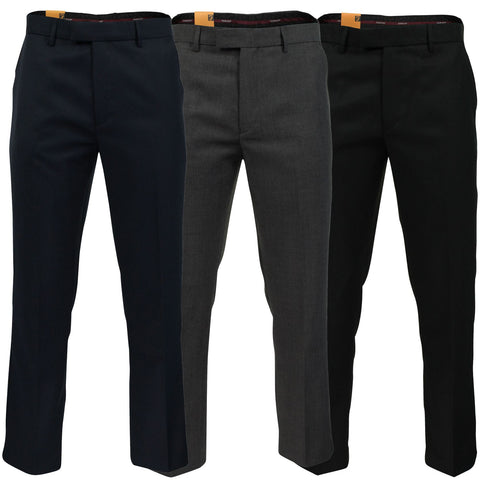 Mens Wool Twist Luxury Trouser by Farah Classic 'Dillon'-Main Image