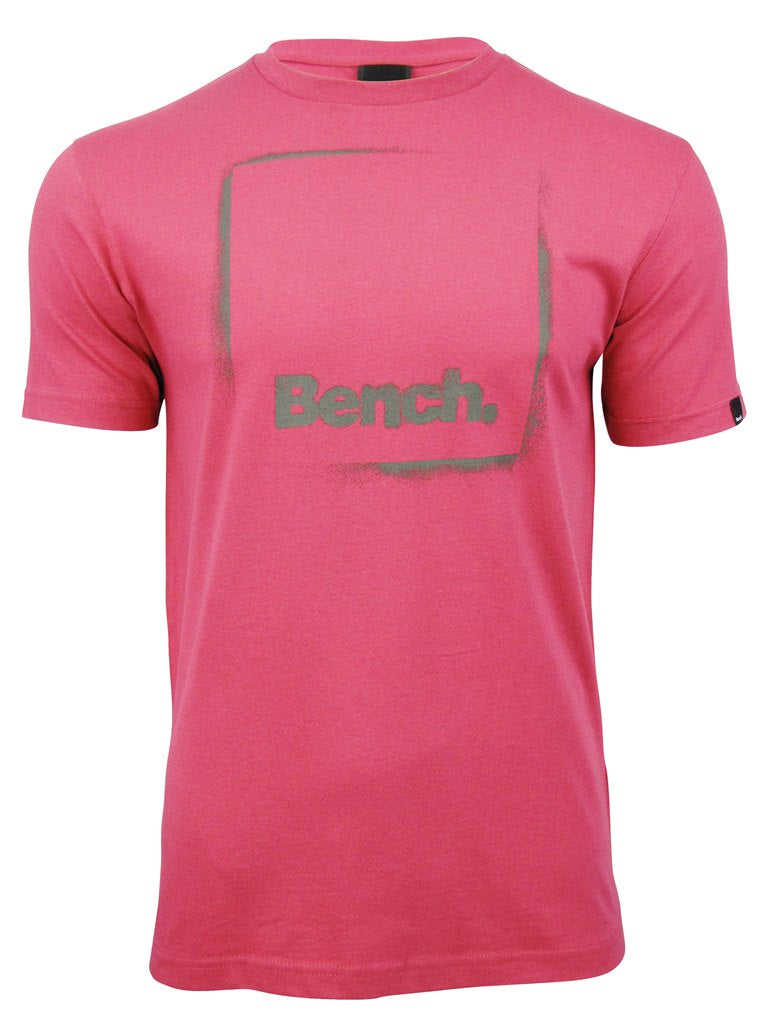 Bench Mens T-Shirt 'Ful lStop' Short Sleeved (Cerise)-Main Image