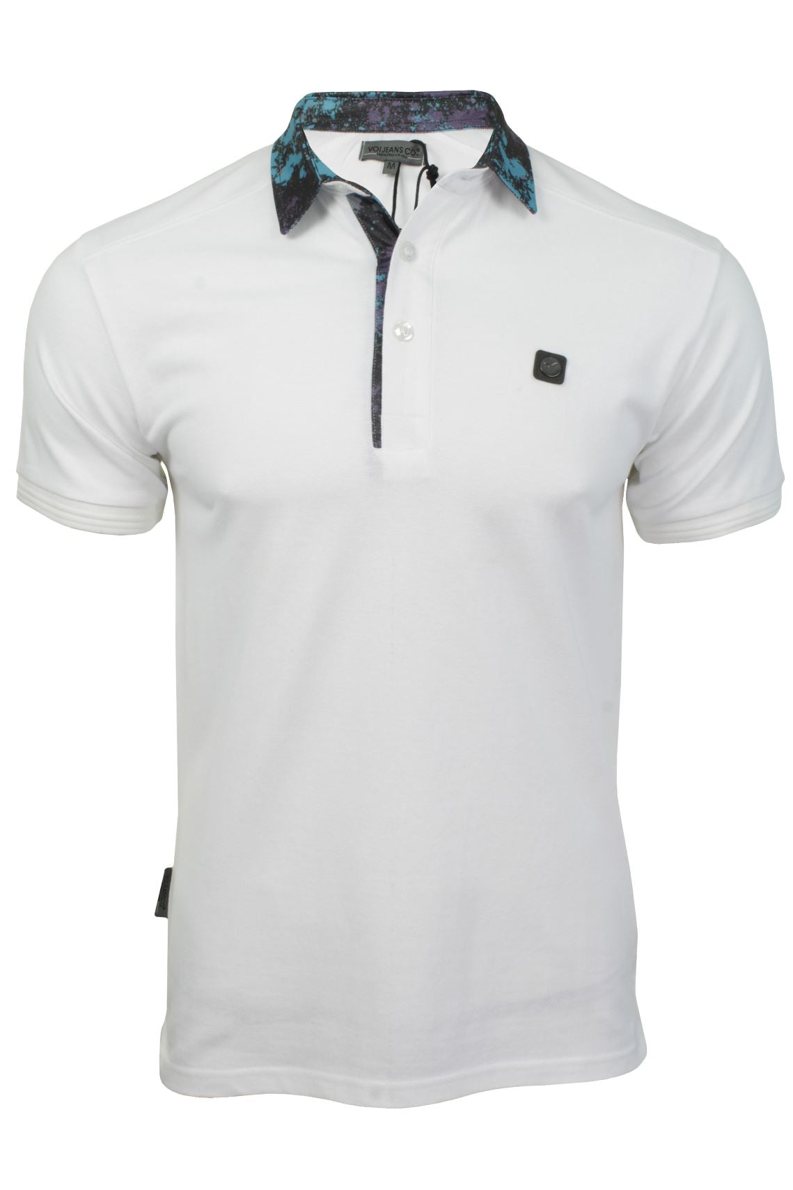 Mens Polo T-Shirt by Voi Jeans 'Ghost'-Main Image