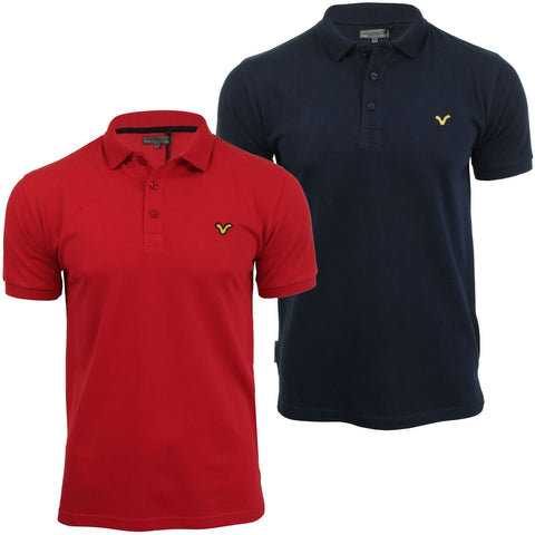 Voi Jeans Mens Fashion Polo Shirt Redford Short Sleeved-Main Image