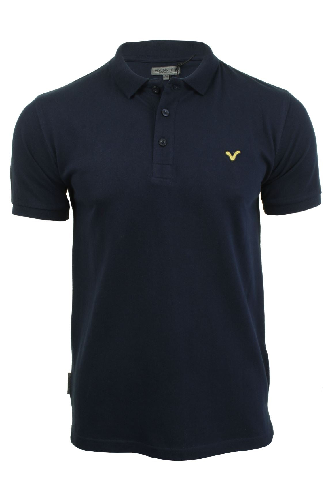 Voi Jeans Mens Pique Polo T Shirt 'Redford Coloured Swirl' Short Sleeved-2