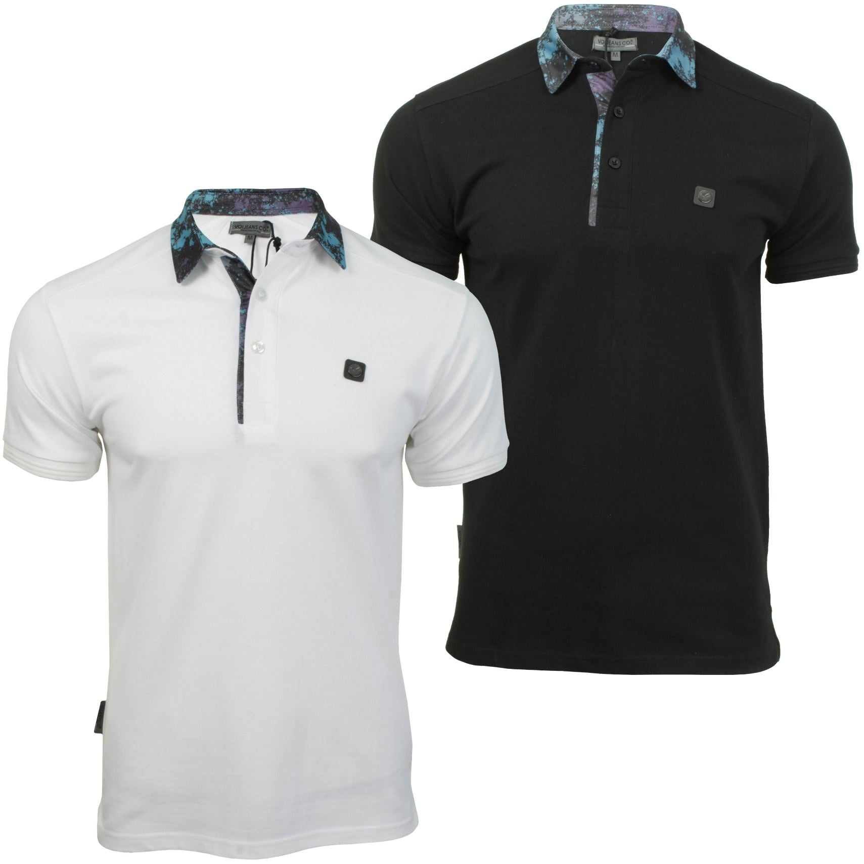 Mens Polo T-Shirt by Voi Jeans 'Ghost' Short Sleeved-Main Image