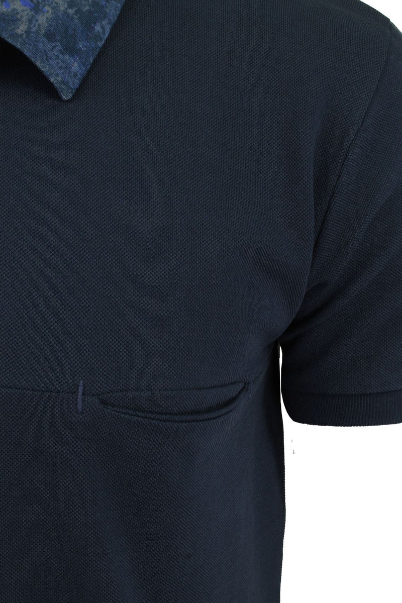 Mens Short Sleeved Polo Shirt from the Blackout Collection by Voi Jeans, 02, Dubb, #colour_Huston - Black Irish