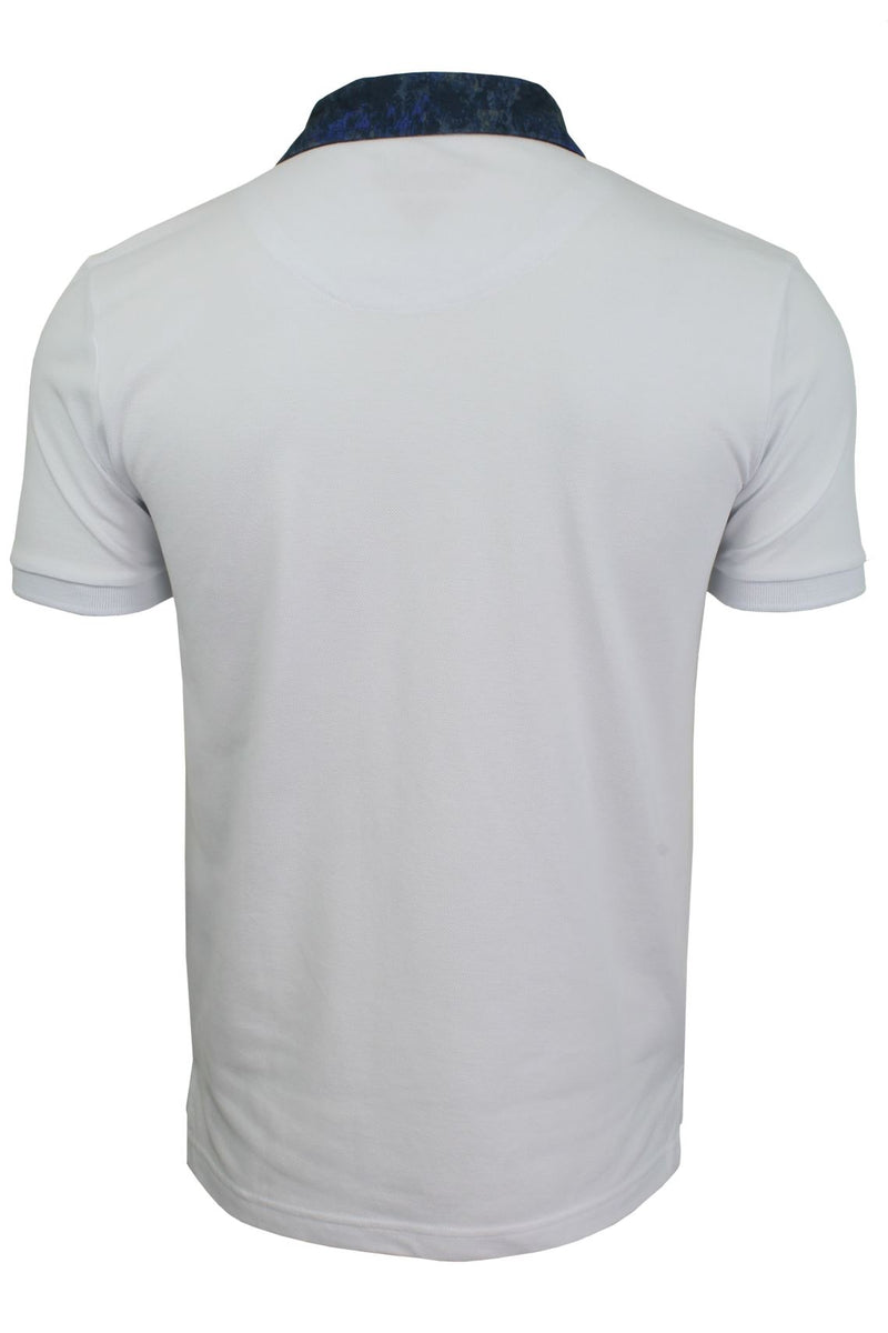 Mens Short Sleeved Polo Shirt from the Blackout Collection by Voi Jeans, 03, Dubb, #colour_Huston - White
