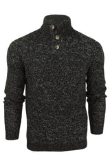Xact Mens Wool Blend Quality Fleck Jumper 3 Button-Main Image