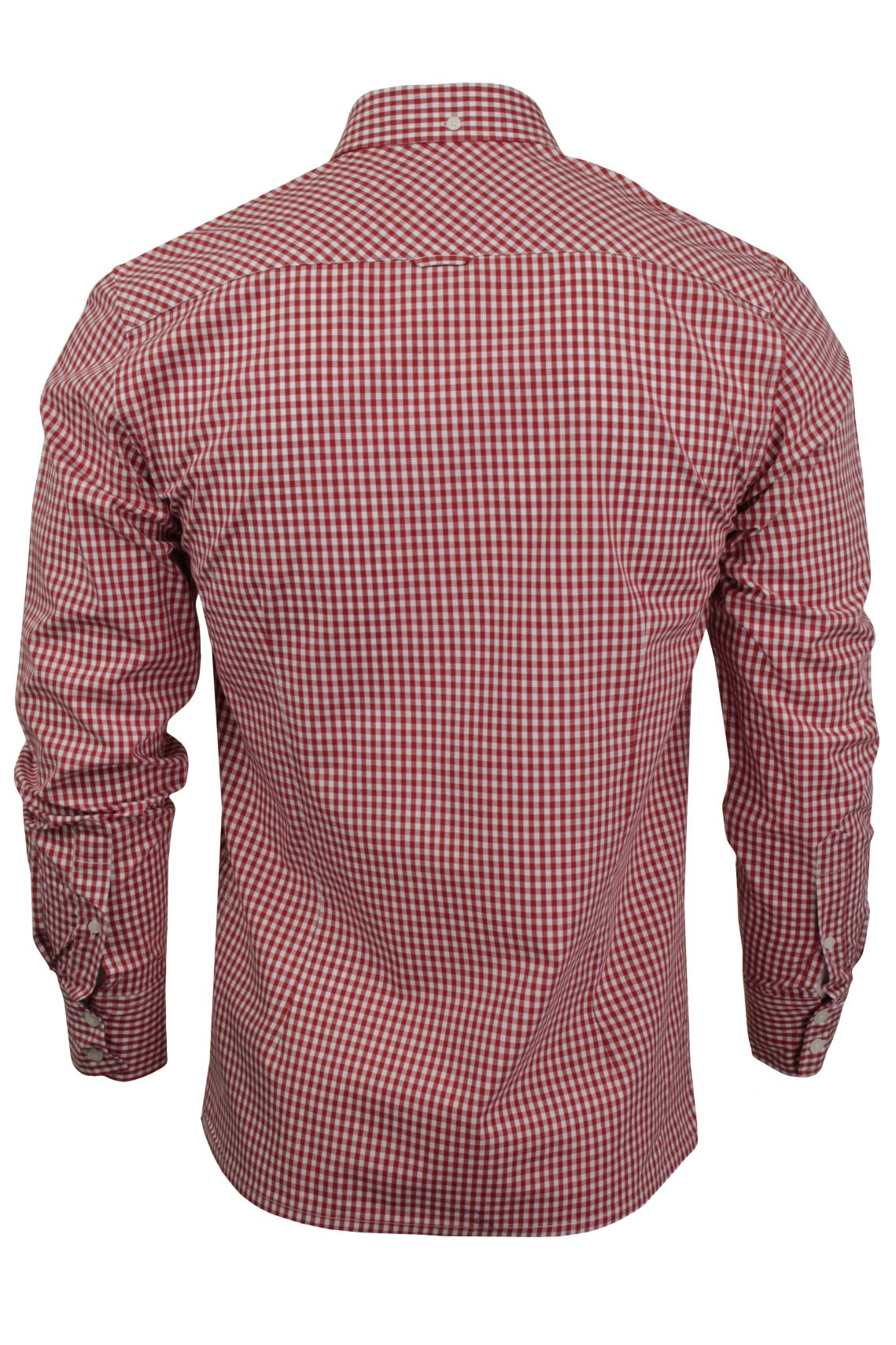 Mens Long Sleeved Gingham Shirt by Merc London 'Japster'_03_1506215Japster_Blood