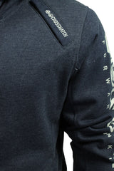 Mens Hoodie/ Jumper by Crosshatch 'Latix' Borg Lined Hood-2