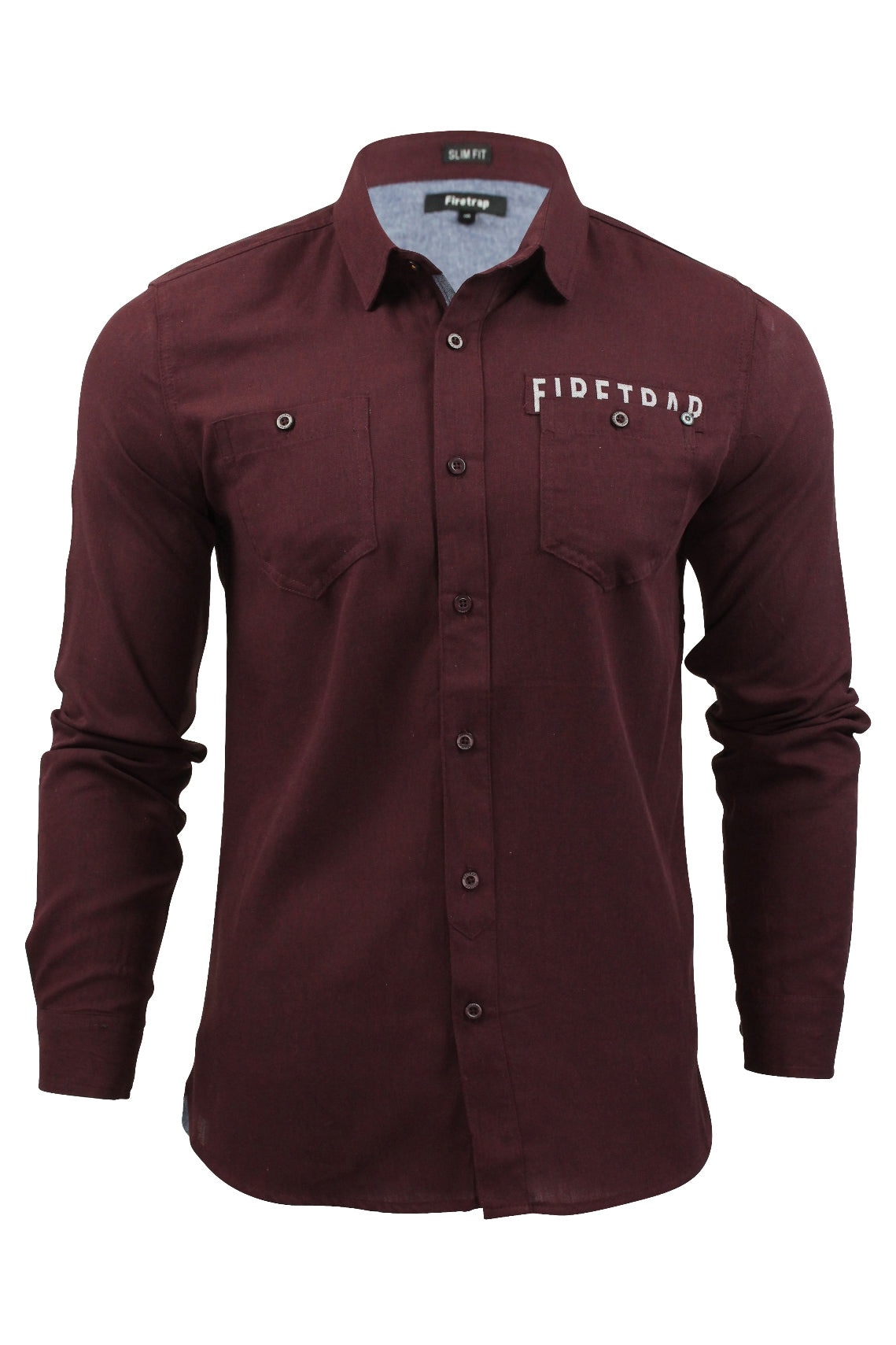 Mens Brushed Flannel Shirt by Firetrap 'Lisford' Long Sleeved-Main Image