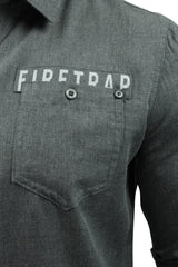 Mens Brushed Flannel Shirt by Firetrap 'Lisford' Long Sleeved-2
