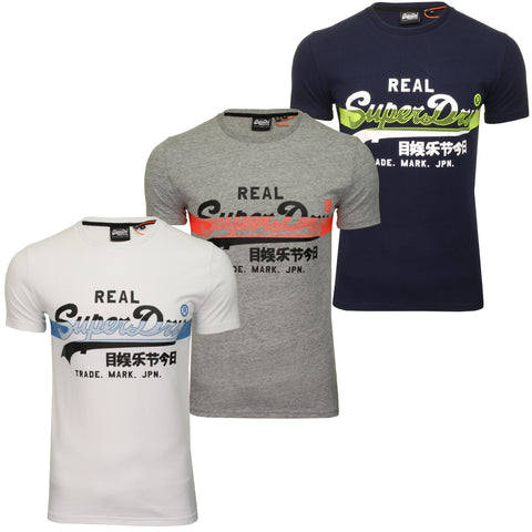Superdry Mens T-Shirt 'Cross Hatch Tee'-Main Image