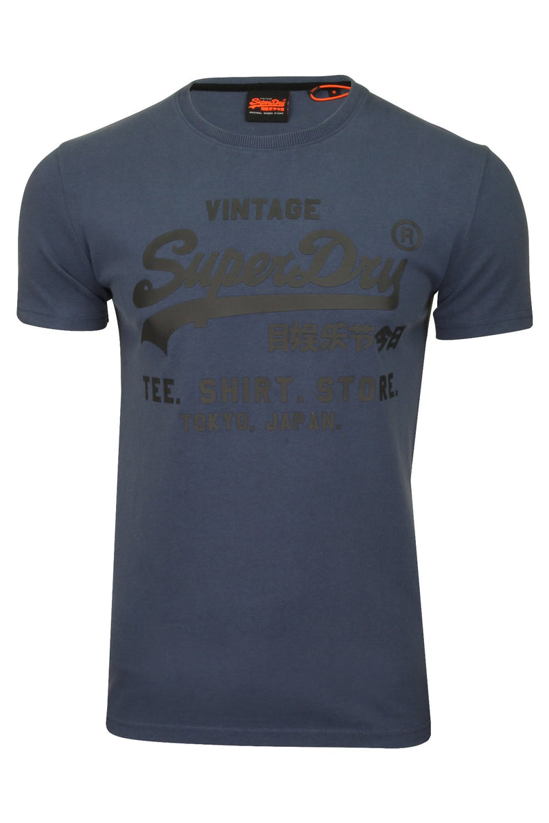 Superdry Mens T-Shirt 'Shirt Shop Bonded Tee', 01, M1010100A, #colour_Lauren Navy