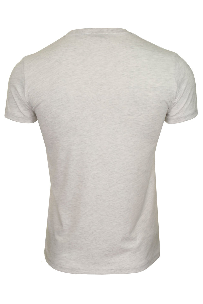 Superdry Mens Crew Neck T-Shirt 'VL Infill Tee' - Short Sleeved, 03, M1010389A, #colour_Ice Marl