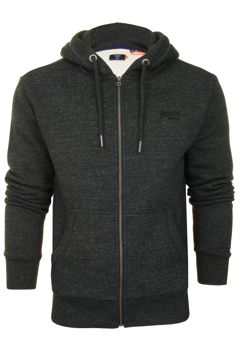 Superdry Mens Hoodie 'OL Classic Zip Hood', 01, M2010227A, #colour_Black Snow Heather