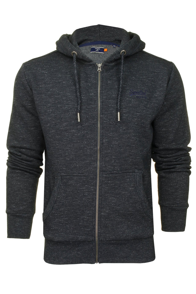 Superdry Mens Hoodie 'OL Classic Zip Hood', 01, M2010227A, #colour_Eclipse Navy Feeder