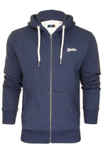 Superdry Mens Hoodie 'OL Classic Zip Hood', 01, M2010227A, #colour_Midnight Blue Grit