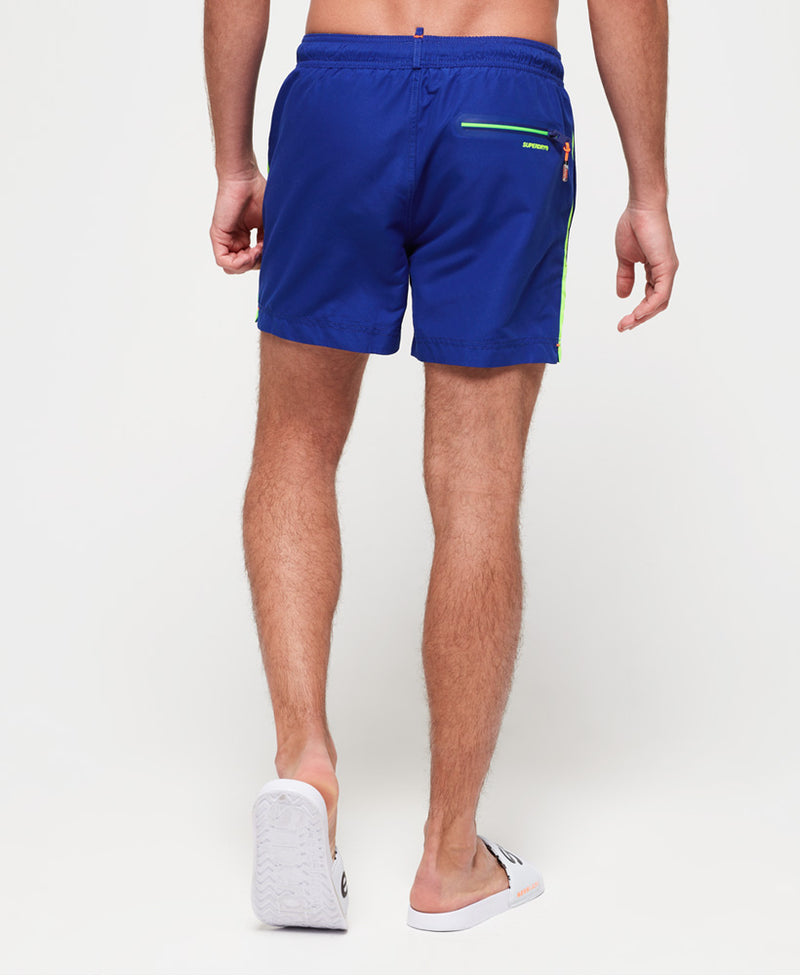 Superdry Mens 'Beach Volley' Swim Shorts, 02, M30010At, #colour_Racer Cobalt