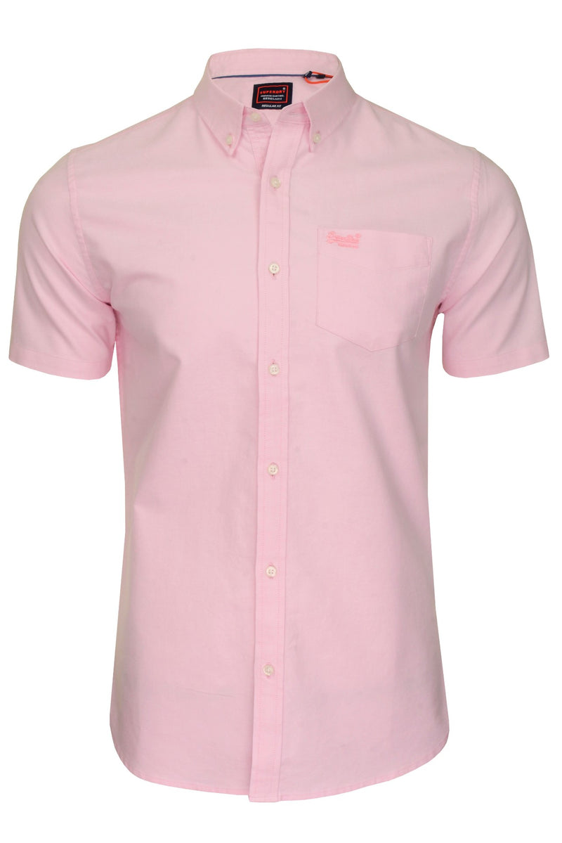 Superdry Mens Shirt 'University Oxford', 01, M4010009A, #colour_City Pink