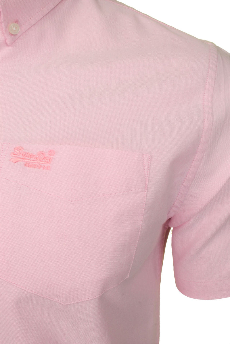 Superdry Mens Shirt 'University Oxford', 02, M4010009A, #colour_City Pink