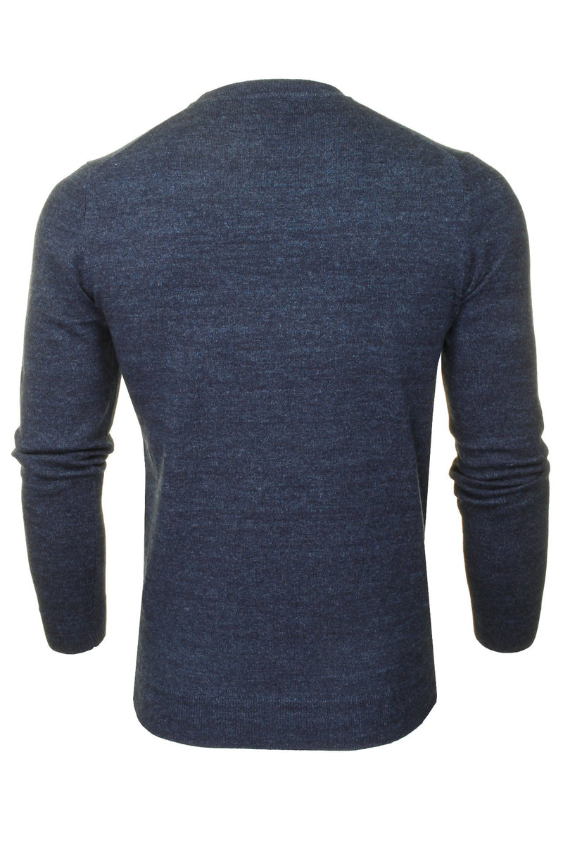 Superdry Mens Crew Neck Jumper 'Orange Label Crew', 03, M6110082A, #colour_Nightwatch Navy Grit