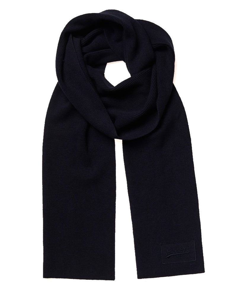 Superdry Mens Scarf 'Orange Label Scarf', 01, M9310010A, #colour_Bright Navy Grit