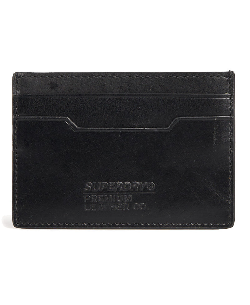 Superdry Leather Card Holder Wallet, 01, M9800043A, #colour_Parent