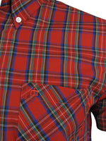 Merc London Men's 'Mack' Tartan Check Shirt - Short Sleeved, 03, MACK, #colour_Red
