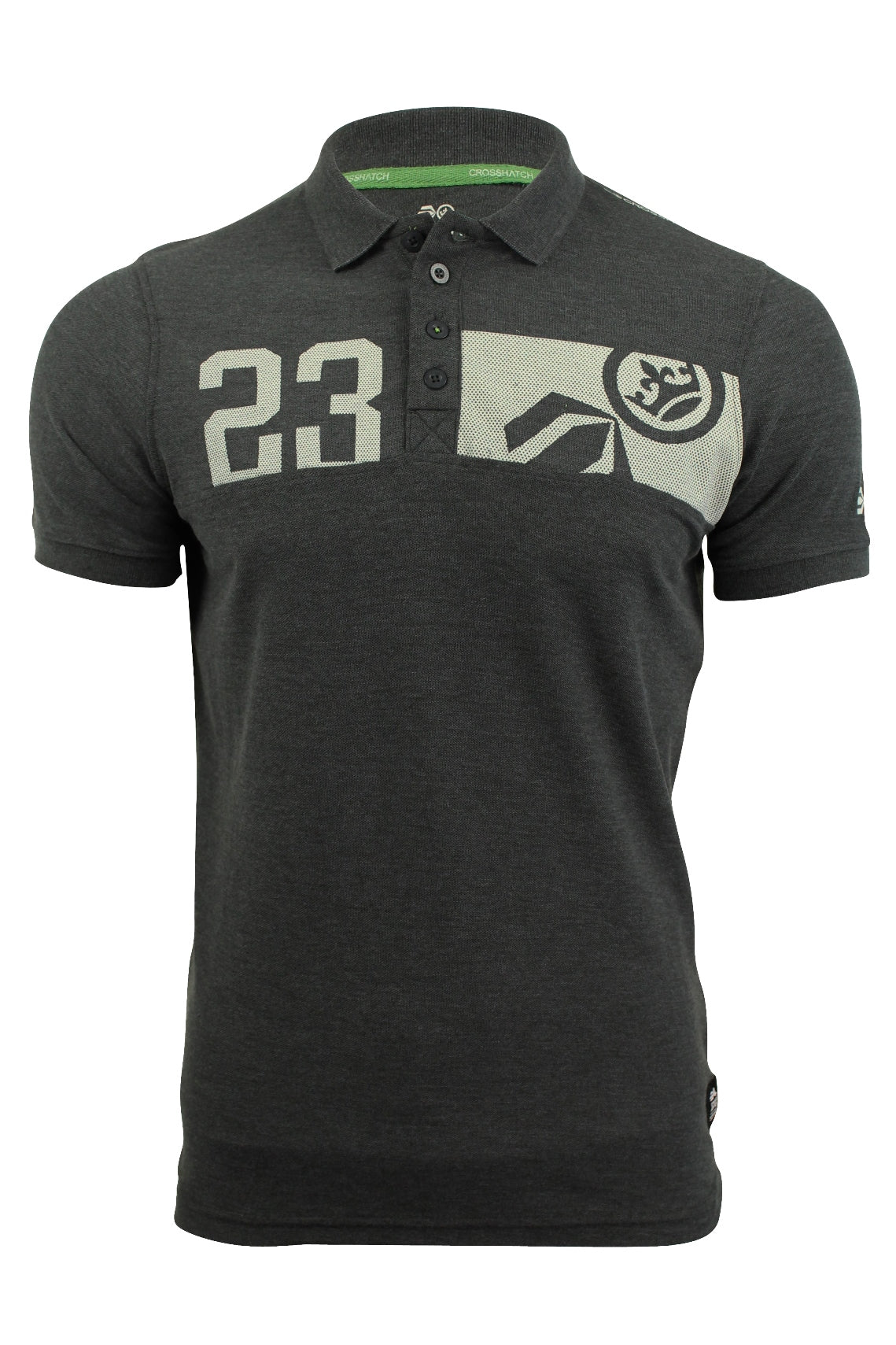 Mens Polo T-Shirt by Crosshatch 'Matrix'-Main Image