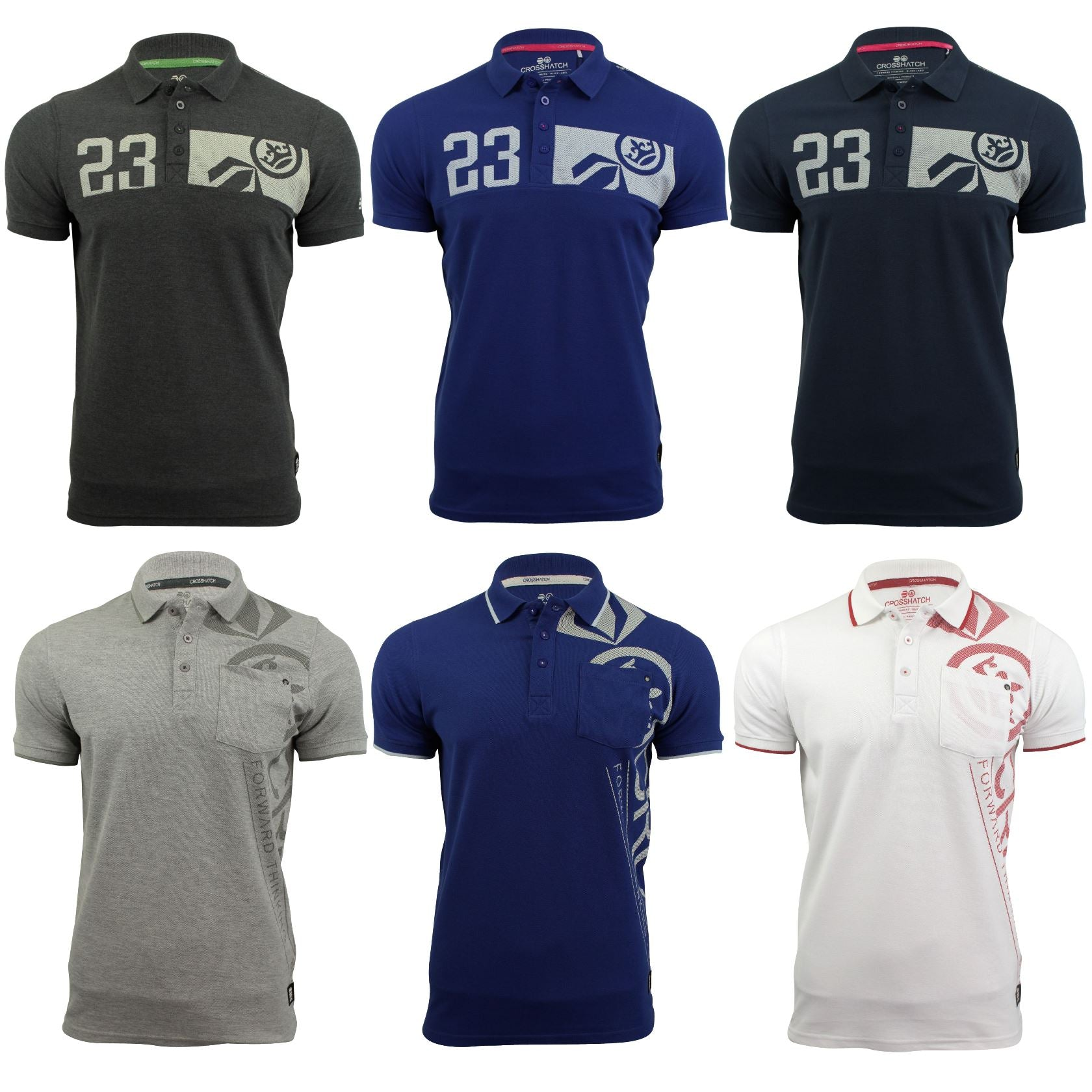 Mens Polo Shirt by Crosshatch 'Pacific Polo' Short Sleeved-Main Image