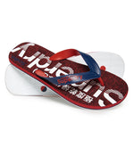 Superdry 'Scuba Faded Logo'    Mens Flip Flops, 01, Mf3105, #colour_Blue Depths/ Optic White/ Red Grit