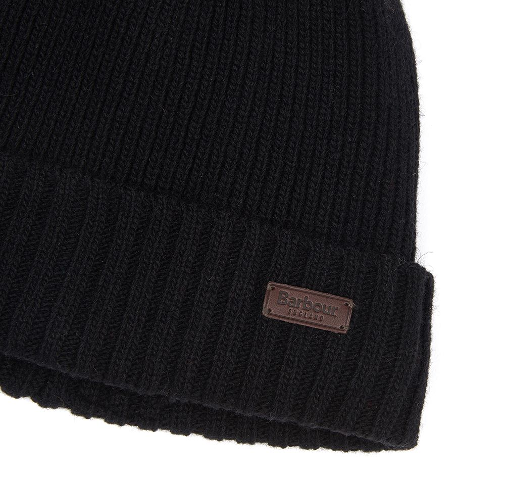 Barbour Mens Carlton Beanie Hat_03_Mha0449_Black