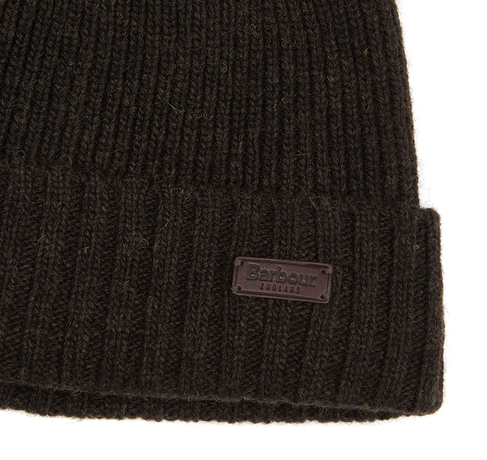 Barbour Mens Carlton Beanie Hat_03_Mha0449_Dk Green