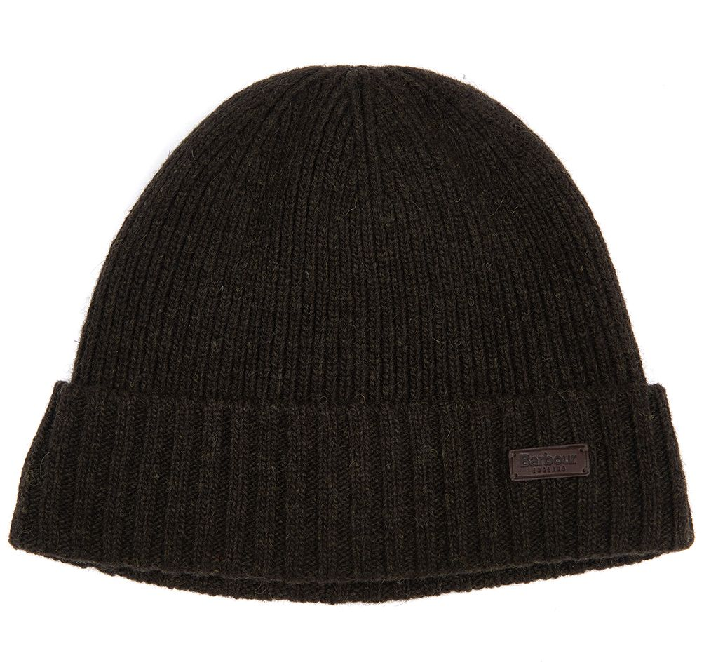 Barbour Mens Carlton Beanie Hat_01_Mha0449_Dk Green
