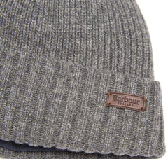 Barbour Mens Carlton Beanie Hat_02_Mha0449_Grey