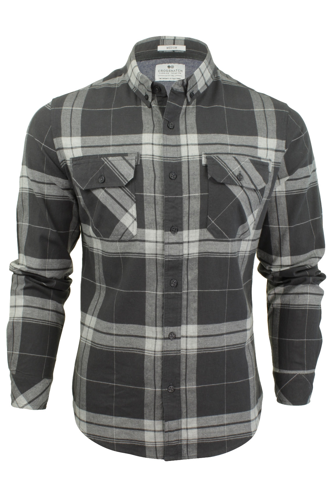 Mens Check Shirt by Crosshatch 'Mitty' Long Sleeved-2