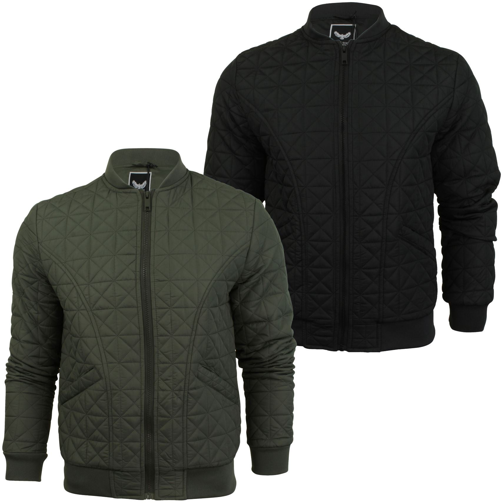 Mens Quilted Bomber Jacket by Brave Soul 'Bryan'-Main Image