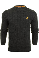 Brave Soul 'Maoism' Mens Cable Knit Jumper-2