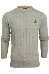 Brave Soul 'Maoism' Mens Cable Knit Jumper-Main Image