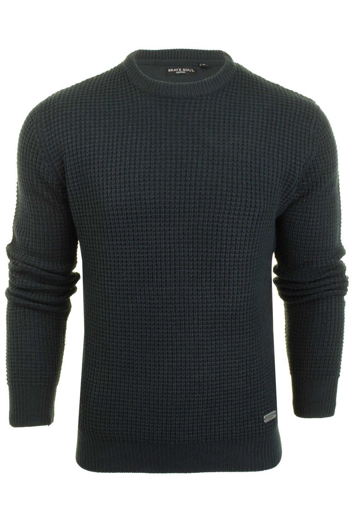 Mens Brave Soul Jumper 'Slovak' Crew Neck-Main Image