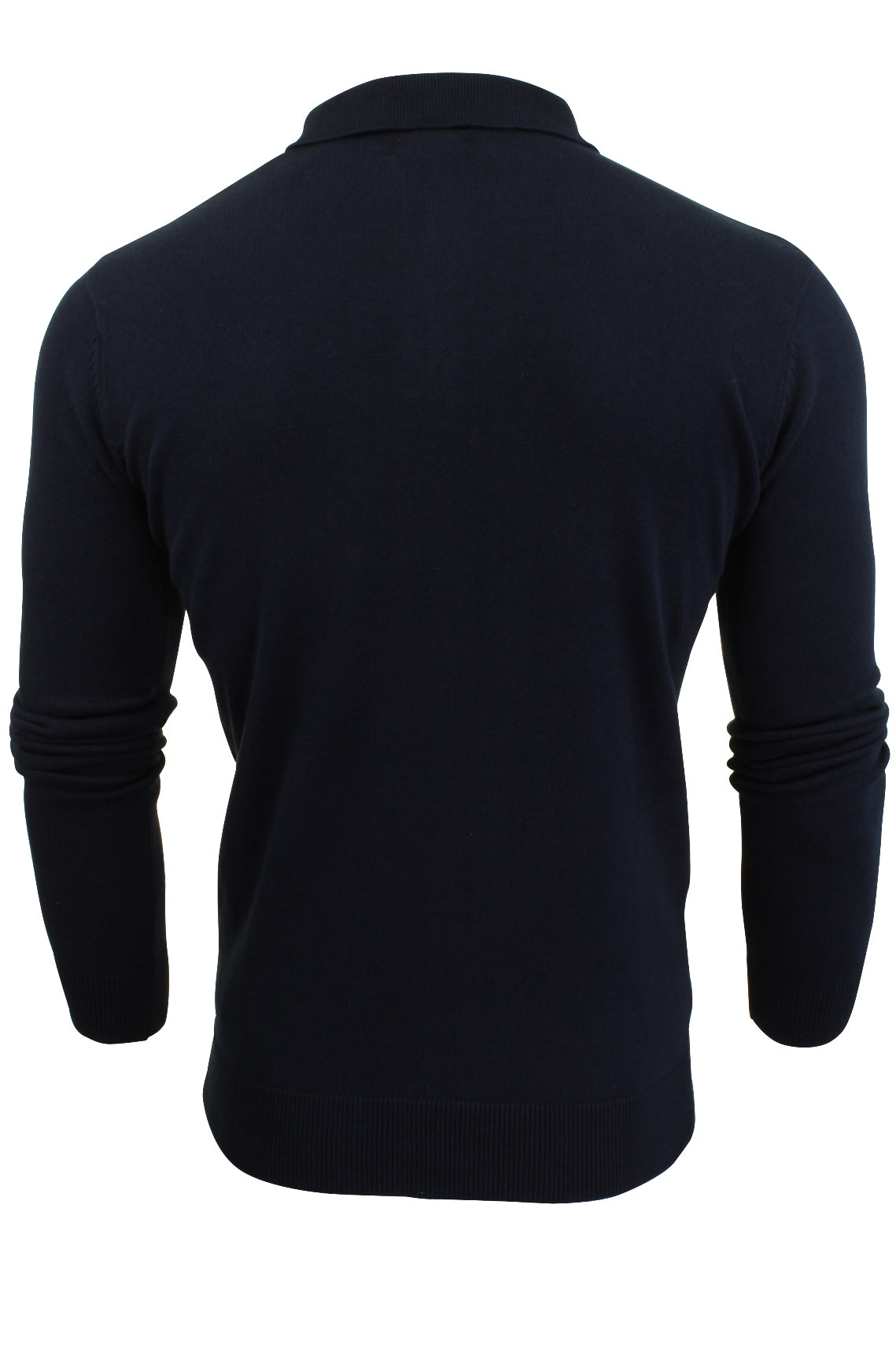 Mens Knitted Polo Shirt by Brave Soul Long Sleeved-3