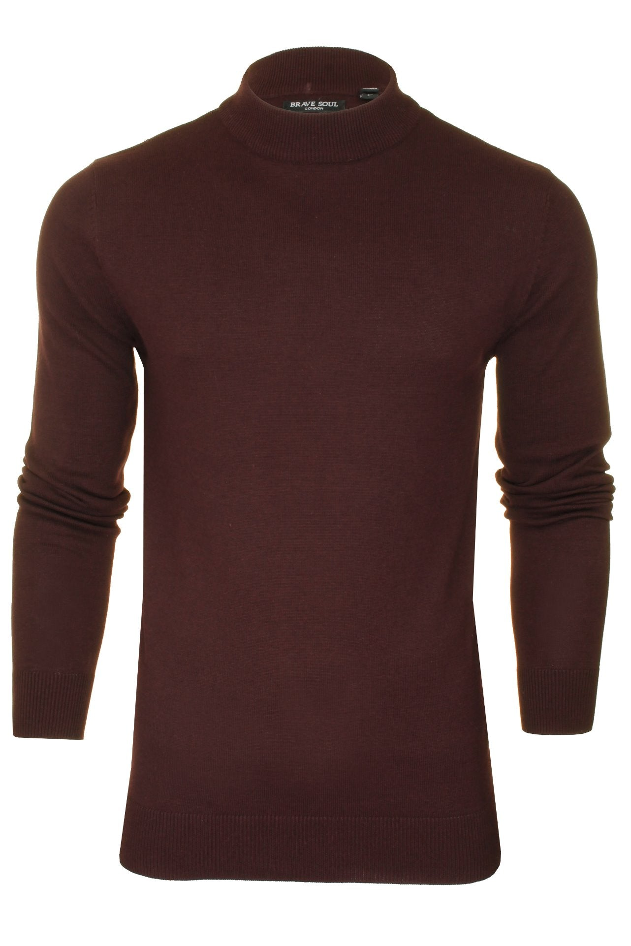 Brave Soul Men's Turtle Neck Jumper_01_Mk-181Turtle-X_Ox Blood