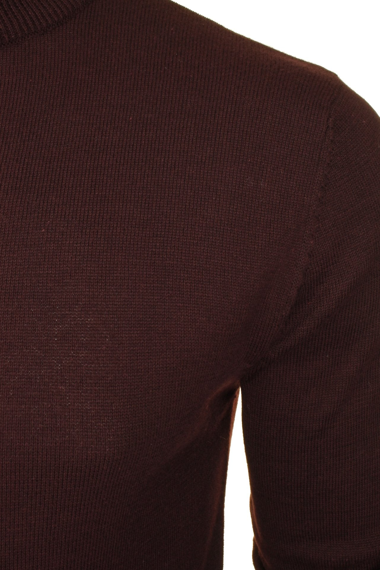 Brave Soul Men's Turtle Neck Jumper_02_Mk-181Turtle-X_Ox Blood