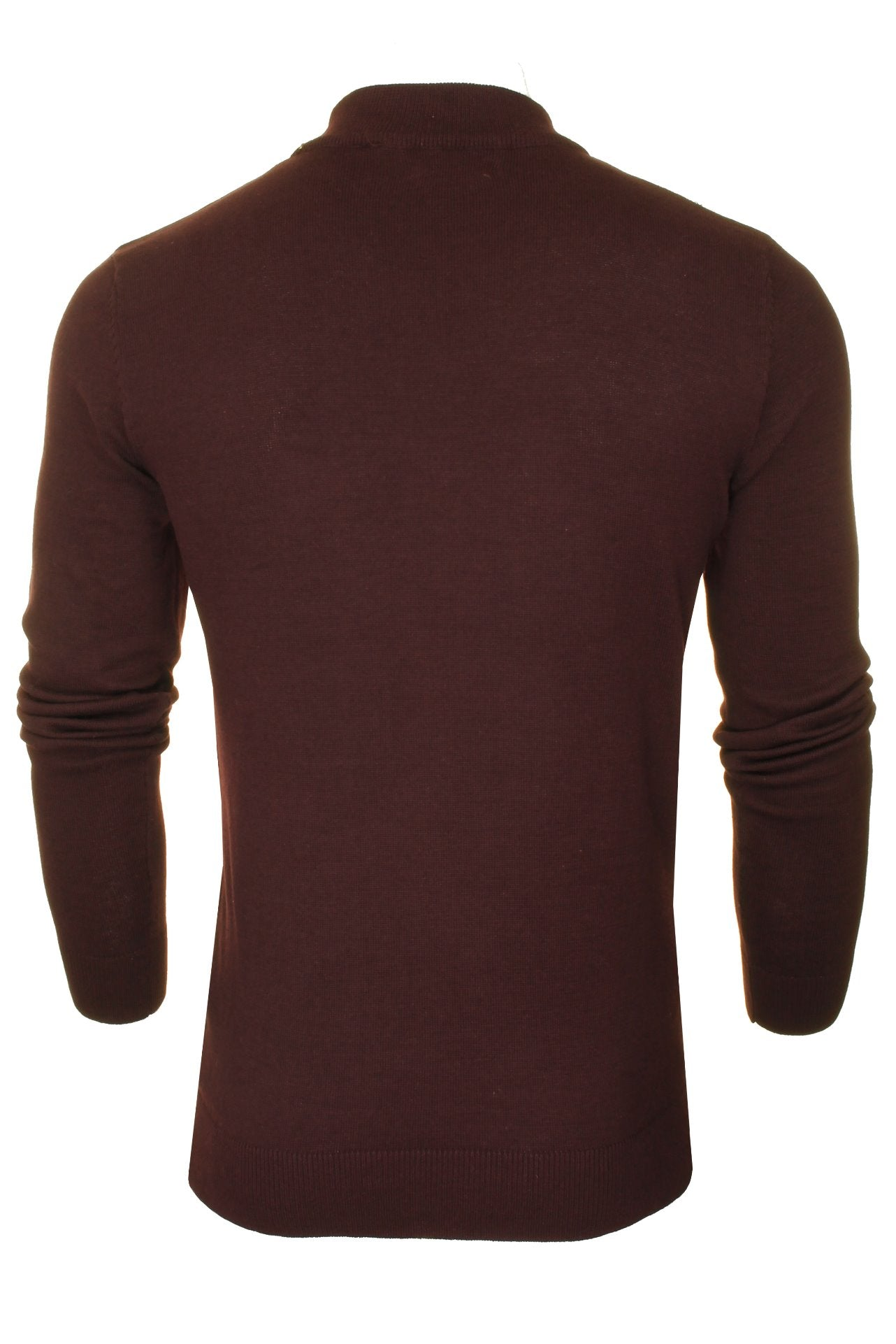 Brave Soul Men's Turtle Neck Jumper_03_Mk-181Turtle-X_Ox Blood
