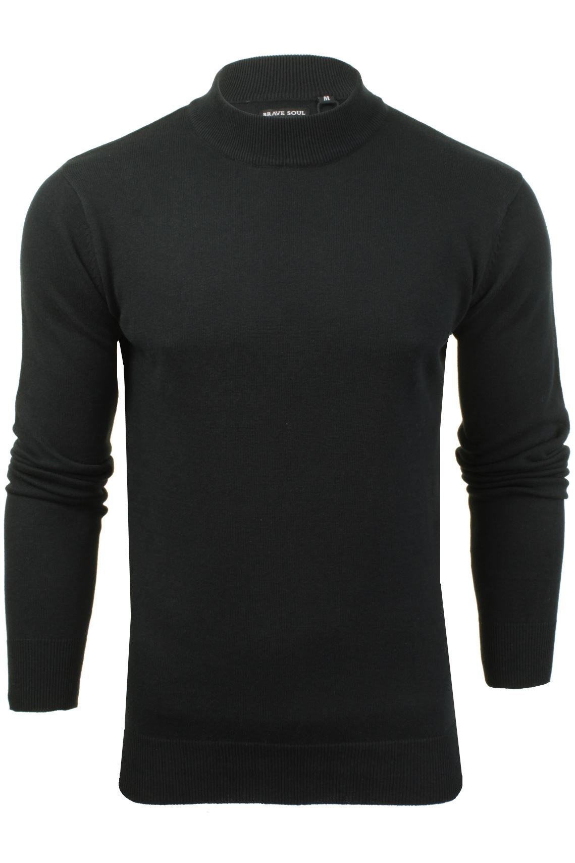 Mens Turtle Neck Jumper by Brave Soul_01_Mk-181Turtle-X_Jet Black