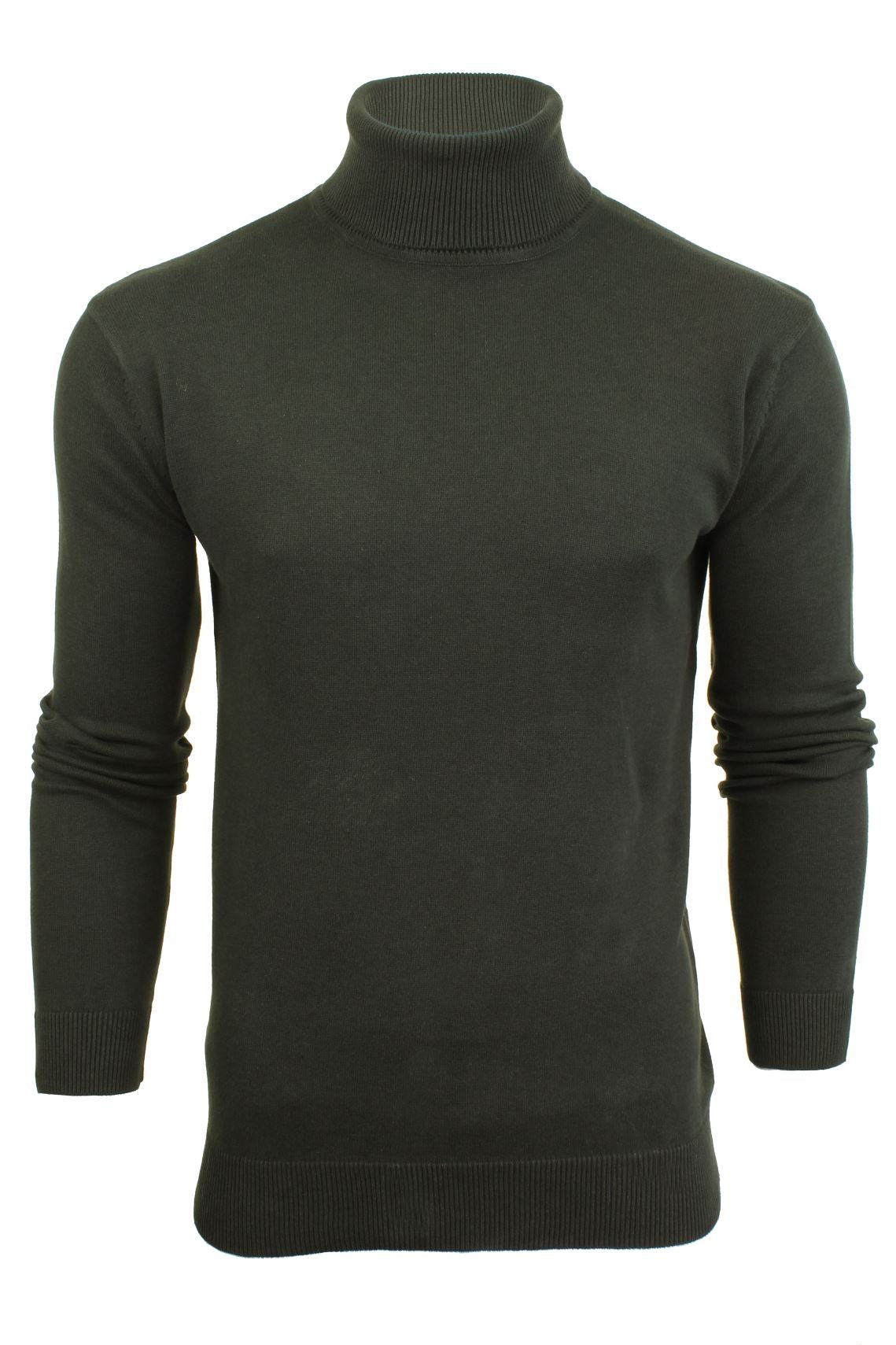 Mens Roll Polo Neck Jumper by Brave Soul 'Hume'-Main Image